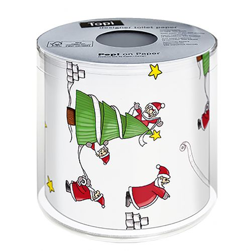 PAPER+DESIGN CHRISTMAS TOILET PAPER - SANTA'S SO BUSY