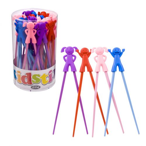 D.LINE BOY & GIRL CHOPSTICKS ASST. (TUB 30) - ASST. COLOURS