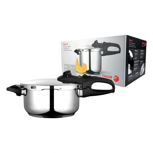 "FAGOR ""DUO"" STAINLESS STEEL PRESSURE COOKER 4L"