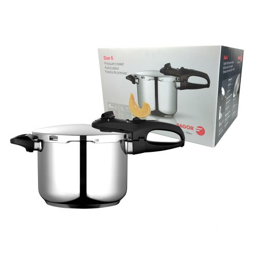 "FAGOR ""DUO"" STAINLESS STEEL PRESSURE COOKER 6L"