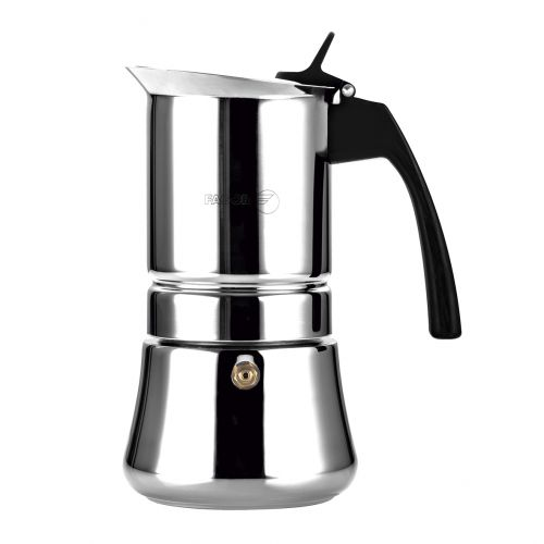 "FAGOR ""ETNICA"" 4 CUP STAINLESS STEEL ESPRESSO MAKER"