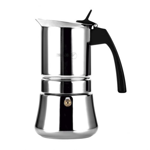 "FAGOR ""ETNICA"" 10 CUP STAINLESS STEEL ESPRESSO MAKER"