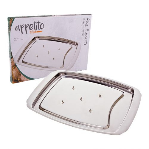 APPETITO STAINLESS STEEL SPIKE CARVING TRAY