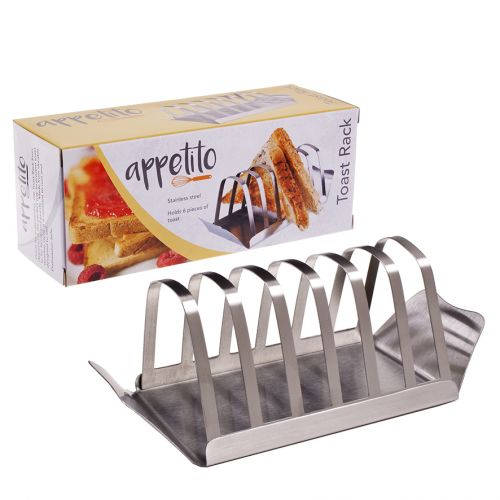 APPETITO STAINLESS STEEL TOAST RACK W/ TRAY