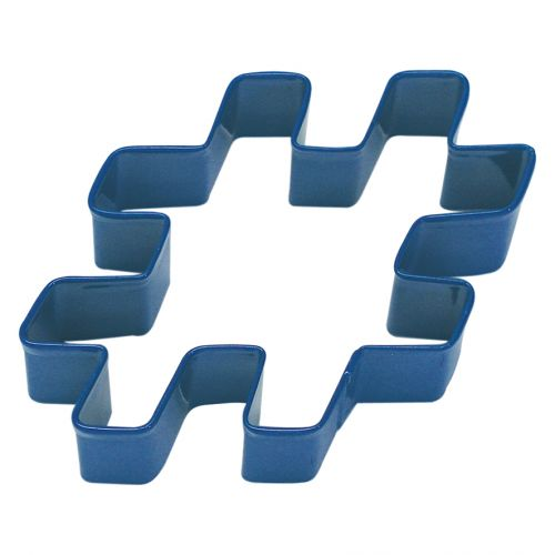D.LINE HASHTAG COOKIE CUTTER 10CM - NAVY