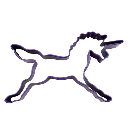 D.LINE UNICORN COOKIE CUTTER 11.5CM - PURPLE