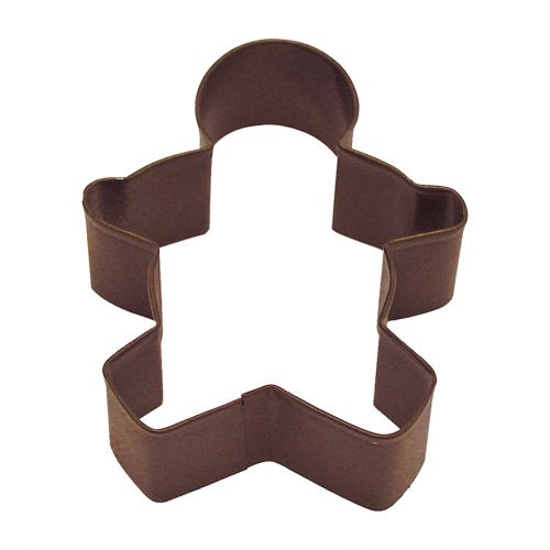 D.LINE GINGERBREAD BOY COOKIE CUTTER 9CM - BROWN