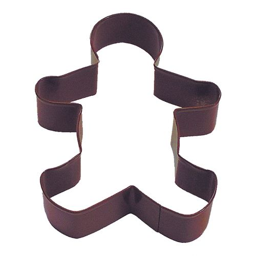 D.LINE GINGERBREAD MAN COOKIE CUTTER 12.75CM - BROWN