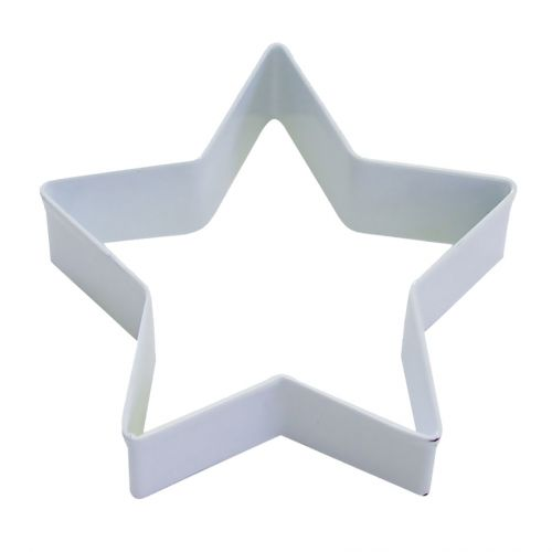 D.LINE STAR COOKIE CUTTER 9CM - WHITE