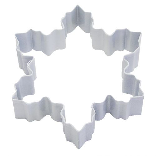 D.LINE SNOWFLAKE COOKIE CUTTER 10CM - WHITE