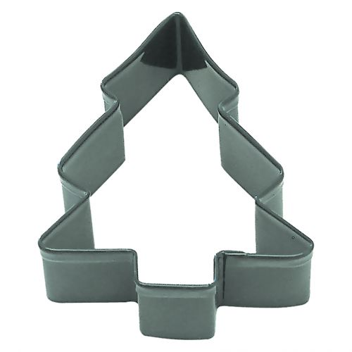 D.LINE SNOW COVERED TREE COOKIE CUTTER 9CM - GREEN