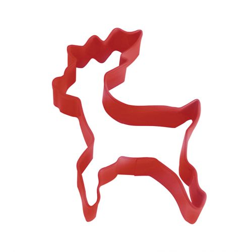 D.LINE STANDING REINDEER COOKIE CUTTER 10CM - RED