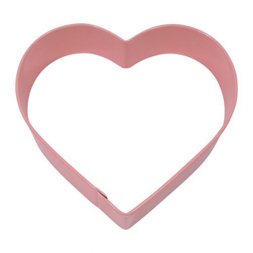 D.LINE HEART COOKIE CUTTER 10CM - PINK