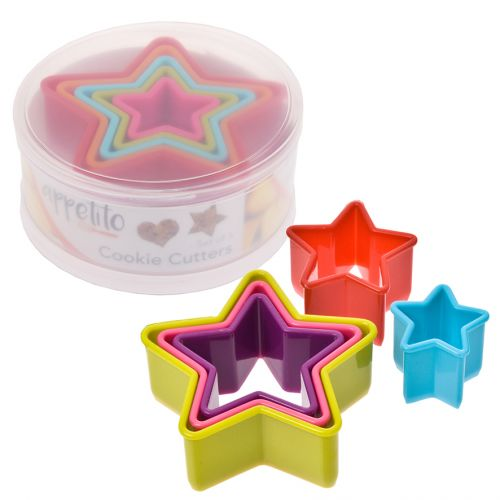 APPETITO STAR COOKIE CUTTER SET 5 - MULTI-COLOUR