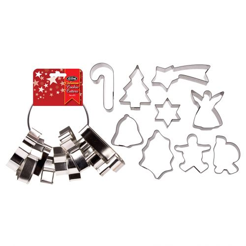 D.LINE XMAS COOKIE CUTTERS SET 9 ON RING