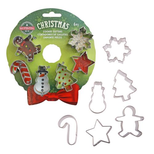 D.LINE XMAS MINI WREATH COOKIE CUTTER SET 6