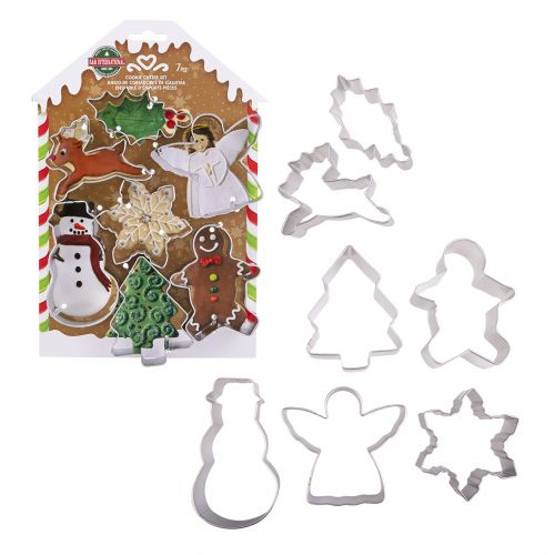 D.LINE XMAS COOKIE CUTTER CARDED SET 7