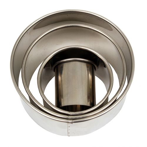 DAILY BAKE STAINLESS STEEL DEEP ROUND PLAIN CUTTER SET 4