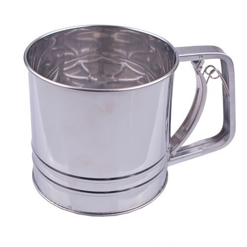 APPETITO STAINLESS STEEL 5 CUP SQUEEZE ACTION FLOUR SIFTER