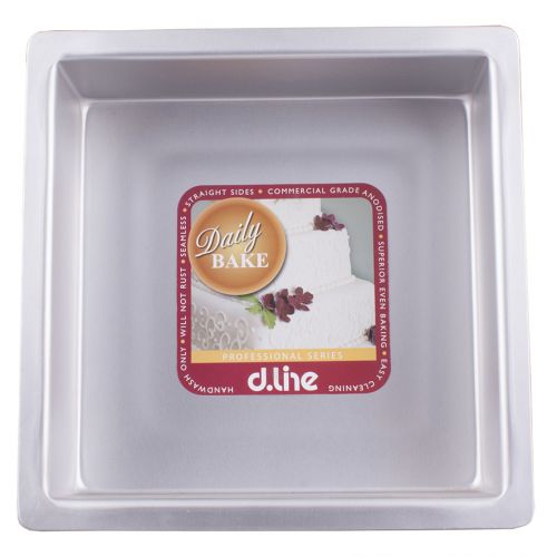"DAILY BAKE 10"" DEEP SQUARE CAKE PAN 25CM X 7.5CM HIGH"