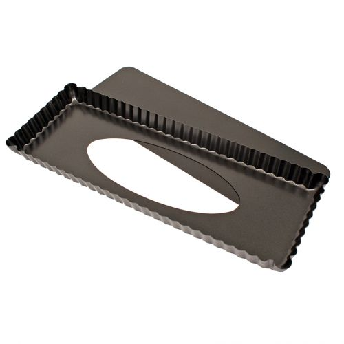 DAILY BAKE NON-STICK RECTANGLE TART PAN W/ LOOSE BASE 36 X 13 X 2.5CM