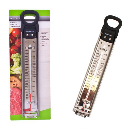 ACURITE STAINLESS STEEL DEEP-FRY/CONFECTION THERMOMETER (CELSIUS)