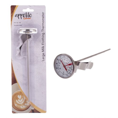 APPETITO LARGE MILK FROTHING THERMOMETER (4CM DIA. DIAL)