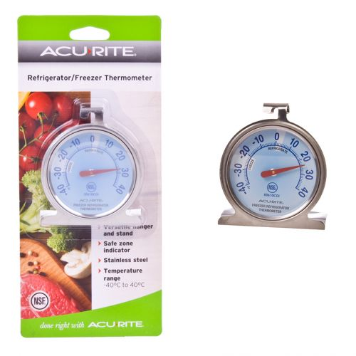 ACURITE REFRIGERATOR/FREEZER DIAL THERMOMETER (CELSIUS)
