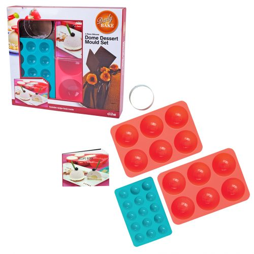 DAILY BAKE 5 PIECE SILICONE DOME DESSERT MOULD GIFT SET