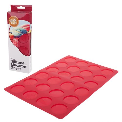 DAILY BAKE SILICONE 24 CUP MACARON SHEET - RED