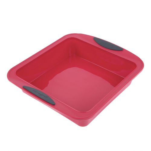 DAILY BAKE SILICONE SQUARE CAKE PAN - RED