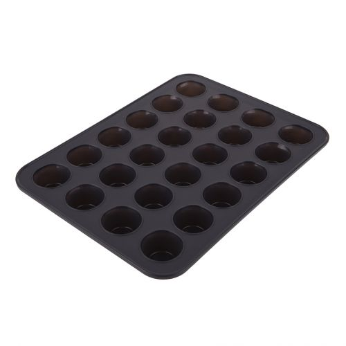 DAILY BAKE SILICONE 24 CUP MINI MUFFIN PAN - CHARCOAL