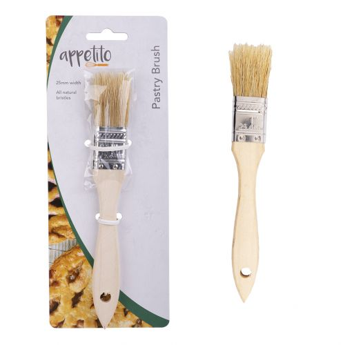 APPETITO WOOD PASTRY BRUSH 25MM