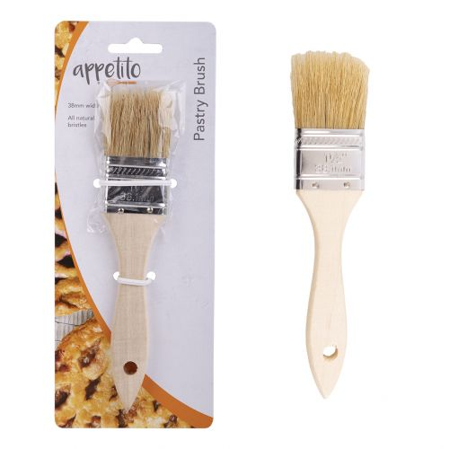 APPETITO WOOD PASTRY BRUSH 38MM