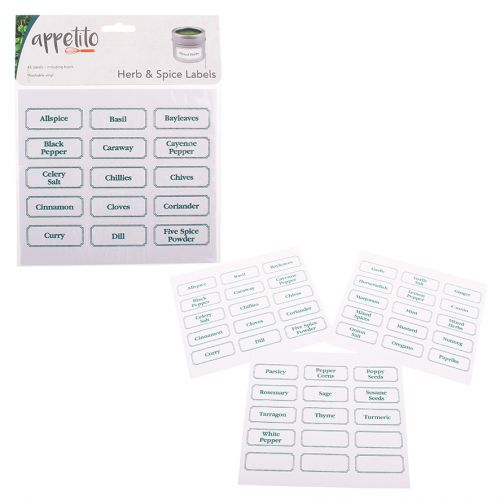 APPETITO HERB & SPICE LABELS PACK 45