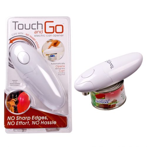 TOUCH AND GO AUTO SAFETY CAN OPENER - WHITE