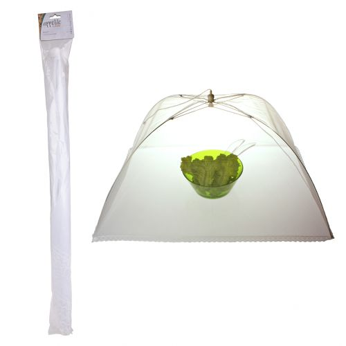 APPETITO JUMBO NYLON NET FOOD COVER 61 X 91CM - WHITE