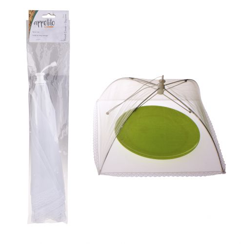 APPETITO SQUARE NYLON NET FOOD COVER 30CM - WHITE