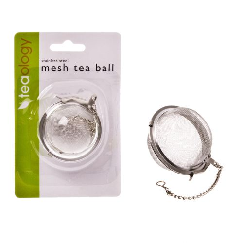TEAOLOGY STAINLESS STEEL MESH TEA BALL 5CM DIA.