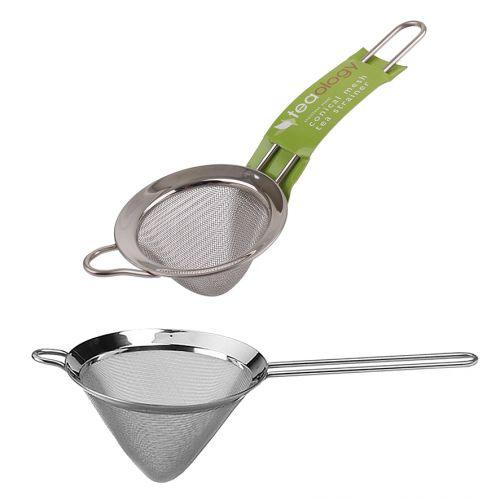 TEAOLOGY STAINLESS STEEL CONICAL MESH TEA STRAINER