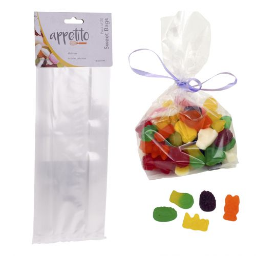 APPETITO SWEETS BAG PACK 20 - CLEAR