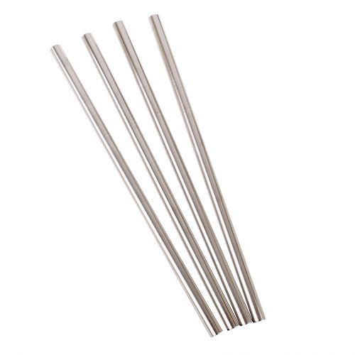 APPETITO STAINLESS STEEL STRAIGHT SMOOTHIE STRAWS (BULK)
