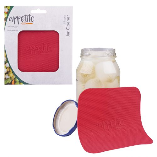 APPETITO SILICONE JAR OPENER - RED