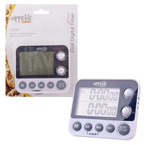 APPETITO DUAL DIGITAL TIMER - 100 HOURS