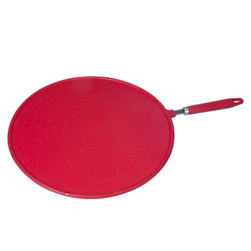 APPETITO SILICONE SPLATTER SCREEN 31CM DIA. - RED