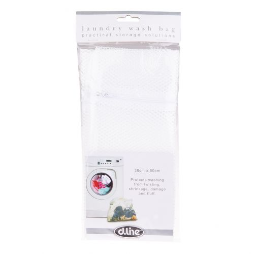 D.LINE LARGE NYLON NET LAUNDRY BAG 38 X 50CM - WHITE