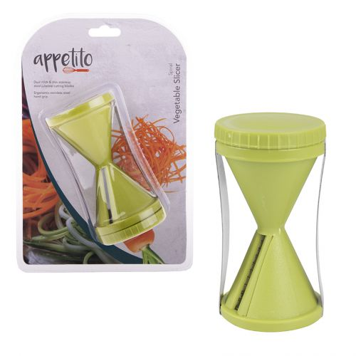 APPETITO SPIRAL VEGETABLE SLICER - GREEN