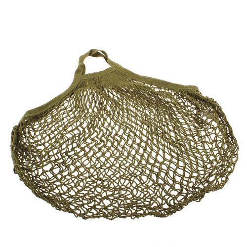 SACHI COTTON STRING BAG SHORT HANDLE - AVOCADO