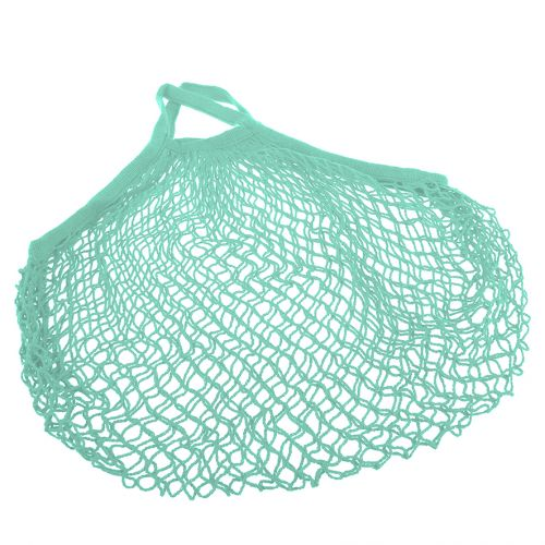 SACHI COTTON STRING BAG SHORT HANDLE - MINT GREEN