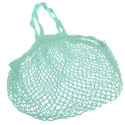 SACHI COTTON STRING BAG LONG HANDLE - MINT GREEN